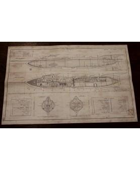 Plan du Nautilus - Tissu...