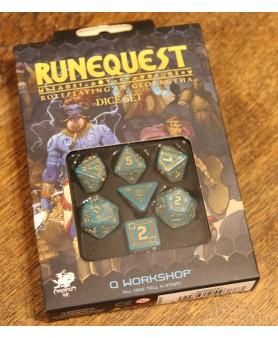 Set de dés - Turquoise/Gold...